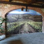View of mural inside wine tasting room