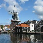 Molen De Adriaan from the bridge