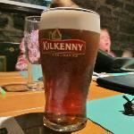  Kilkenny is one of many Irish beers offered.  But no hard cider.
