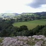 View from top of hill at Loggerheads.