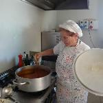 Old lady cook