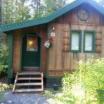 A view of the outside of couple&#39;s cabin
