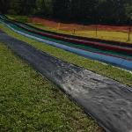 Snowless tube track