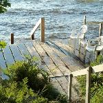  Dock right outside of cottage