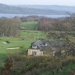  view looking down over lodge