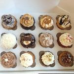 Gluten free cupcake assortment at Posh Pop Bakeshop