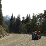  Leaving Tahsis - wide roads with plenty of pullouts