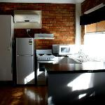 Kitchen in the 2-bedroom villa