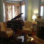  The parlor room with piano on the main floor