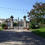 Entry gates to the chateau