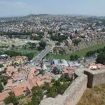 View from Narikala fortress, the city of Tbilisi