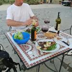 Grill your own dinner and enjoy some wine!