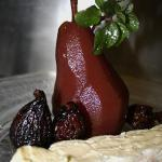  Poached Pear with Brie Cheese