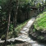 The path to the cottages