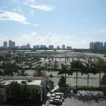  View of racetrack from room