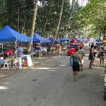 weekly market in Beau Vallon & close to restaurant