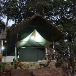  View of Tent at Night
