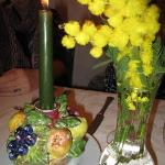 It was Festive delle Donna (Woman's Day) - so these beautiful mimosas were on every table