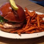 grilled chicken on brioche