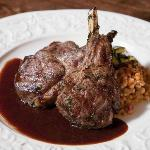 Lamb Chop with Chimayo chile couscous
