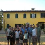 Whole Family in Front of the Villa