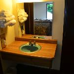 Sink area in room