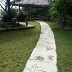 Walkway to restaurant