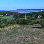 View from the grounds overlooking Cheticamp beach