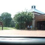 The entrance to manassas museum.