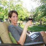 A glass of wine while reading and relaxing.....