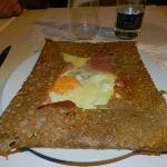  crepe huevo,jamon y queso