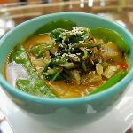Thai Soup with Coconut Milk and Vegetables