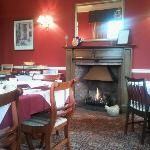  A real fire in the breakfast room. Lovely.