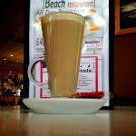  a latte at the Beach Restaurant, Cleethorpes...