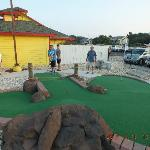 A round of mini golf