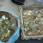 Boxes full of crystals at Jaffa Flea Market
