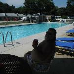 At the Hyland Moter Inn Pool