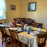 Cozy dining room where guests from across the globe enjoy Newfoundland hospitality and cuisine.
