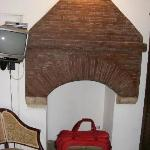 Fireplace (good for luggage storage)