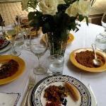  Delicious lunch! The Riad&#39;s chef prepares 5 star meals 3 times a day.