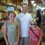  My kids with Gelatauro owner Gianni
