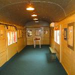 Interior of train carriage, Dunera Museum