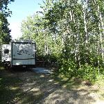 Electric site, long enough to park a trailer, truck and a boat