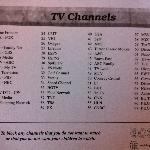 TV Channel listing