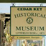 Cedar Key Historical Society Museum Sign