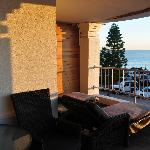 Balcony of room 6 with ocean view