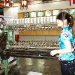  machine to pull the thread from the cocoons