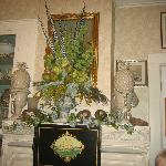 The mantel in the room I had tea in