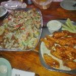 Food- nachos & wings