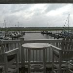 Our deck view of the marina at the condo we rented at The Inn at South Harbor